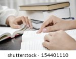 reviewing lesson | Shutterstock . vector #154401110