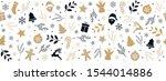 christmas icon elements golden... | Shutterstock .eps vector #1544014886