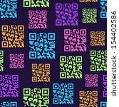 Qr Barcode Seamless Pattern....