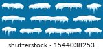 snow with icicle frames. snow... | Shutterstock .eps vector #1544038253