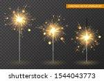 christmas bengal lights set.... | Shutterstock .eps vector #1544043773