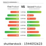 comparison table chart  vector...