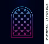 window frame arabic nolan icon. ...