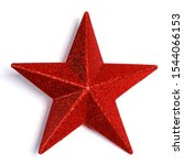 Red glitter star shaped...