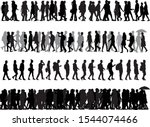group of people. crowd of... | Shutterstock .eps vector #1544074466