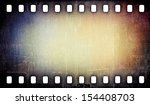 grunge scratched film strip... | Shutterstock . vector #154408703