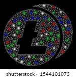 bright mesh litecoins with... | Shutterstock .eps vector #1544101073