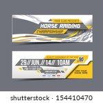horse riding web banner  header ... | Shutterstock .eps vector #154410470