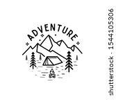 minimal line art adventure logo ... | Shutterstock .eps vector #1544105306