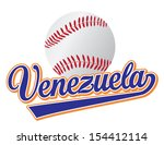 venezuela baseball vector... | Shutterstock . vector #154412114