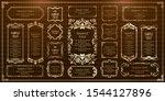 luxury  antique  frame ... | Shutterstock .eps vector #1544127896