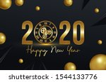 happy new year 2020 modern... | Shutterstock .eps vector #1544133776