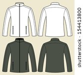 jacket template in black and... | Shutterstock .eps vector #154413800
