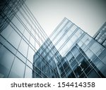modern black and blue glass... | Shutterstock . vector #154414358