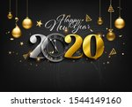 happy new year 2020   new year... | Shutterstock .eps vector #1544149160