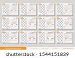 desk calendar 2020 design...   Shutterstock .eps vector #1544151839