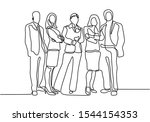 continuous one line drawing of... | Shutterstock .eps vector #1544154353