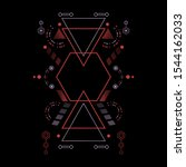 modern secred geometry ornament ... | Shutterstock .eps vector #1544162033