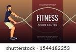 fitness  sport center  healthy... | Shutterstock .eps vector #1544182253