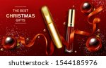 mascara and lip gloss christmas ... | Shutterstock .eps vector #1544185976