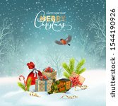 christmas holiday background.... | Shutterstock .eps vector #1544190926