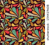 retro seamless abstract pattern | Shutterstock .eps vector #154419608