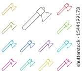 axe multi color icon. simple...