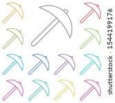 picket multi color icon. simple ...