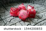 Pink D D D20 Dice Set For Ttrpg