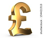 Sign Of Pound On White Isolated ...