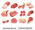 butcher shop  meat products ...   Shutterstock .eps vector #1544218433