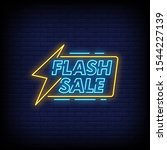 flash sale neon signs style... | Shutterstock .eps vector #1544227139