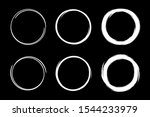 hand drawn circles sketch frame ...   Shutterstock .eps vector #1544233979