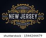 victorian ornamental badge...   Shutterstock .eps vector #1544244479