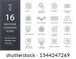 machine learning line icons.... | Shutterstock .eps vector #1544247269