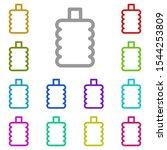 bottle multi color icon. simple ...