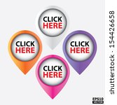 click here buttons. eps10 vector | Shutterstock .eps vector #154426658