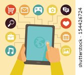 vector concept   mobile app... | Shutterstock .eps vector #154426724