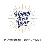 happy new year. lettering text... | Shutterstock .eps vector #1544274296