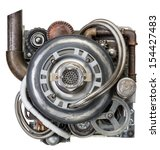 Stylized Metal Collage Of...