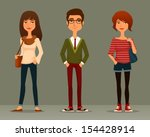 funny cartoon illustration of... | Shutterstock .eps vector #154428914