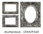 the antique gold frame on the... | Shutterstock . vector #154429160
