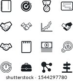 company vector icon set such as ... | Shutterstock .eps vector #1544297780