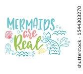 mermaid cartoon vector...   Shutterstock .eps vector #1544303270