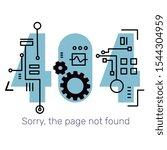 vector creative template of... | Shutterstock .eps vector #1544304959