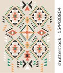 ethnic  print pattern background | Shutterstock .eps vector #154430804