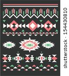 ethnic pattern vector background | Shutterstock .eps vector #154430810