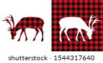 Deer  Buffalo Plaid  Set....