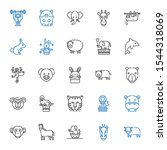 mammal icons set. collection of ... | Shutterstock .eps vector #1544318069