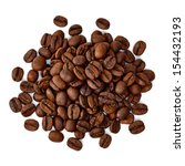 roasted coffee beans pile from... | Shutterstock . vector #154432193